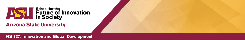 FIS 337 course banner made, generic template used for all ASU Online course banners